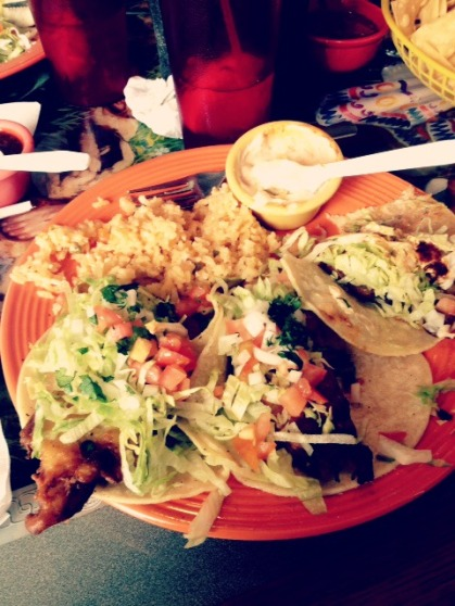 my fish tacos!! so good.