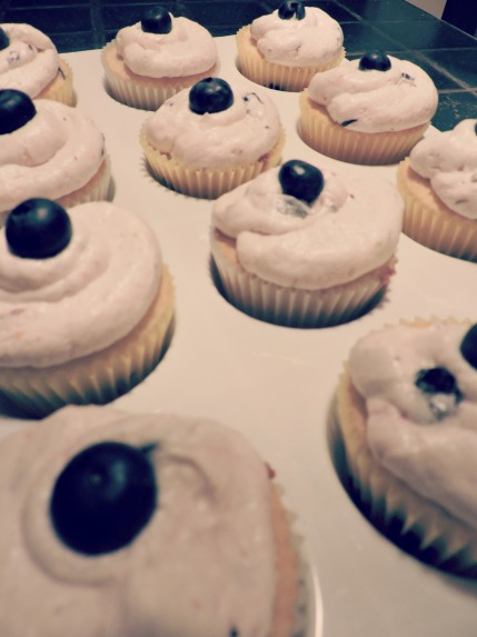 cupcakes blueberry
